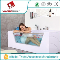 New Design! Cheap Adult 1 Person Portable Glass Hot Tub / High Quality Girl Sex Glass Whirlpool SPA Tub (YLL-2058)