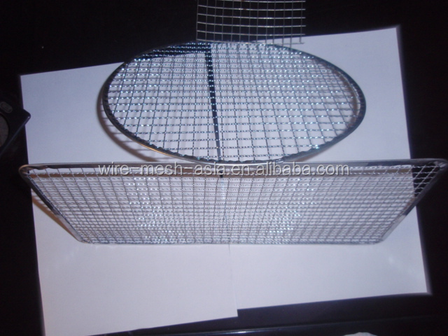 High quality and low price stainless steel/galvanized wire barbecue grill netting(mannufacturer & plant)
