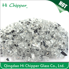 Decorative crushed recycled mirror glass