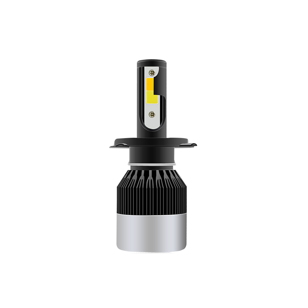 Dual color COB LED Head lights H4 H7 9005 9006 H8 white <strong>yellow</strong> Fog Light 50W 6000LUMEN build-in Fan Car LED Headlight <strong>Bulbs</strong> H7