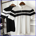 Classic style soft striped polo shirts good wholesale fitness polo men's clothing