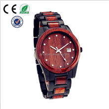 Stainless steel watch women watches with wood bezel and jewelry dial luxury design high quality china factory cheap price