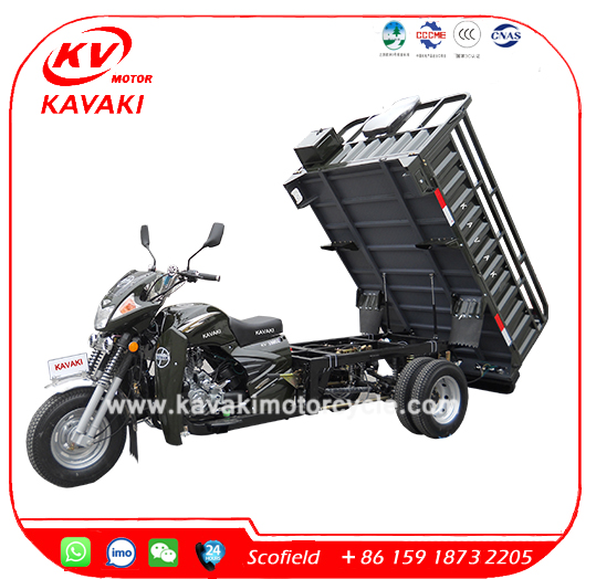 KAVAKI 200CC LIFAN engine double rear tire cargo tricycle/four wheel motorcycle