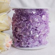 42M/Roll 3+13MM Decorative artificial wedding christmas fishing line pearl beaded flower garland