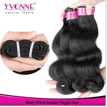 Cheap body wave indian remy hair weave 100g for one pack