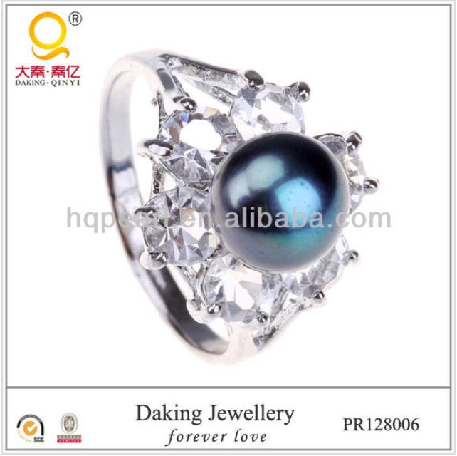 Beautiful New Design Ladies Finger 925 Sun Silver Pearl Ring