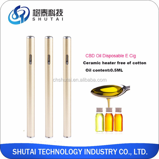 2018 best selling electronic cigarette slim portable disposable cbd hemp oil vape pen for health smoking