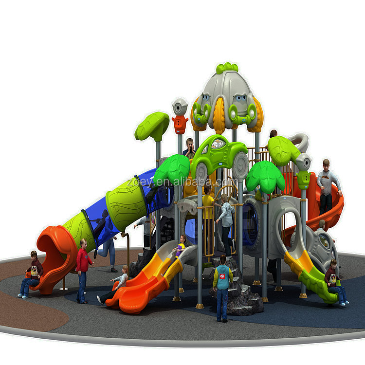 Newest Kids Jungle Gym Sports Outdoor Amusement Park Playground Equipment with Multiple Plastic Slides