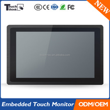 22'' High Brightness Industrial Touch Screen Panel Mount LCD Monitor
