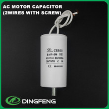 capacitor 400v 8uf capacitor with iso9001 rohs approval