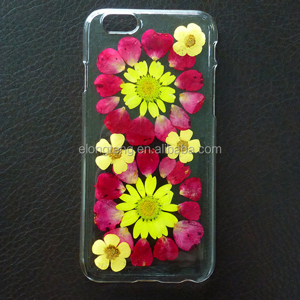 hot creative PC DIY pressed natural real rose phone cover & cases for Iphone