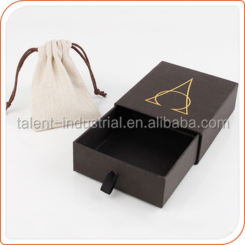 OEM factory Cardboard Drawer Paper Box,Cardboard Jewelry Gift Box with silver logo for watch