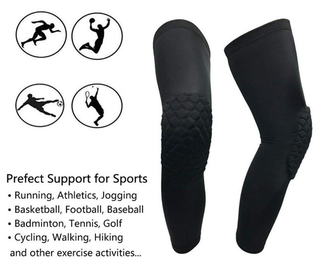 Soft Knee protector brace Compression sleeve for Baseball Softball Cycling Prevent knee injury