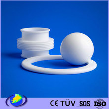 white plastic injection molding PTFE teflon filled machining parts customer design supplier