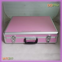 Pink ABS surface locking cheap aluminum tool carry case