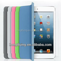 Soft PU leather case for ipad mini 4 folderable cover