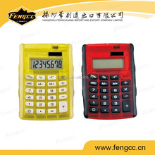 2016 best sell promotion custom made 8 digits electronic / scientific calculator for transparent cover