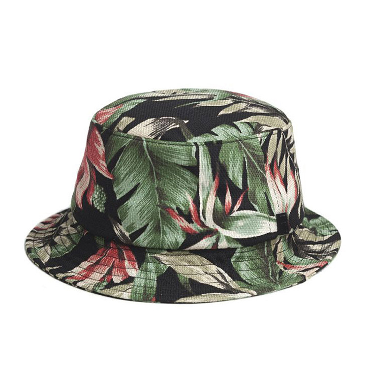 Wide Brim Printed Logo Fashion Fishing Men Bucket Hat