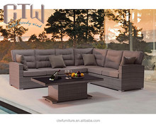 Good quality Outdoor wicker furniture PE rattan sofa sets