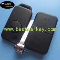 Hot selling 1 button flip key shell 2 track without logo with light for replacement key shell