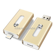 2 -in-1 dual way memory storage flash drive drive for iPhone /iPod touch