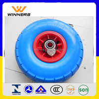 4.10/3.50-4 flat pu foam tire wheel barrow tire