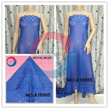 royal blue Guipure Chemical Lace hot sale for lady dress