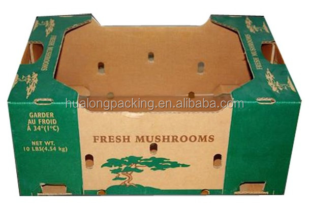 High quality recycled corrugated fruit packaging box for fruit delivery