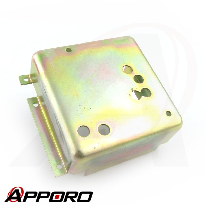 APPORO Stamping parts Aluminum Alloy 5052 Yellow Zinc Plated Electronic Case Housing Bracket Enclosure