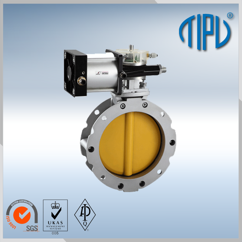dn250 water blow off butterfly valve with pneumatic actuator