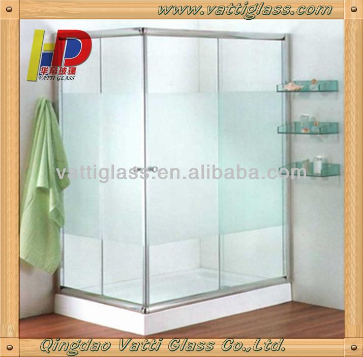 Ba o de vidrio esmerilado puerta de ba o puerta corredera - Puertas correderas de cristal para banos ...