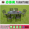 Modern Style Aluminum Frame Outdoor Table