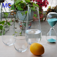 clear water glass carafe