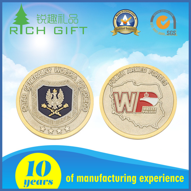 Wholesale alibaba cheap price custom iron stamped 3D roman fake gold eagle replica coins