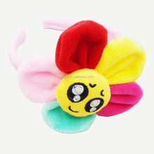 Lovely fabric flower hair bands/headbands with expression for kids girls