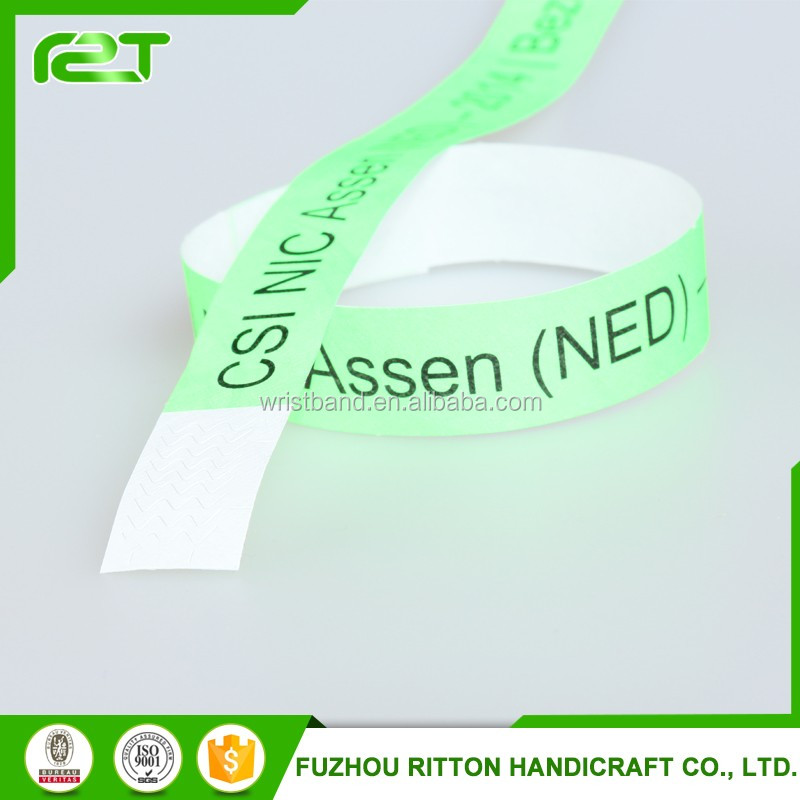 2016 Bulk Cheap Promotion Custom Tyvek Wristband