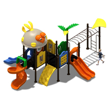 KINPLAY brand kids plastic outdoor playground slides safety play center amusement children slide