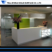 Incredible! Solid Surface modern hair salon led reception counter