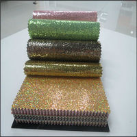Hot Seling Fashion Style glitter artificial leather Mesh Material