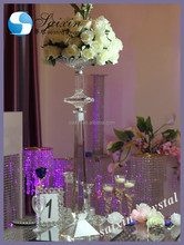 Beautiful crystal flower stand for wedding decoration ZT-229