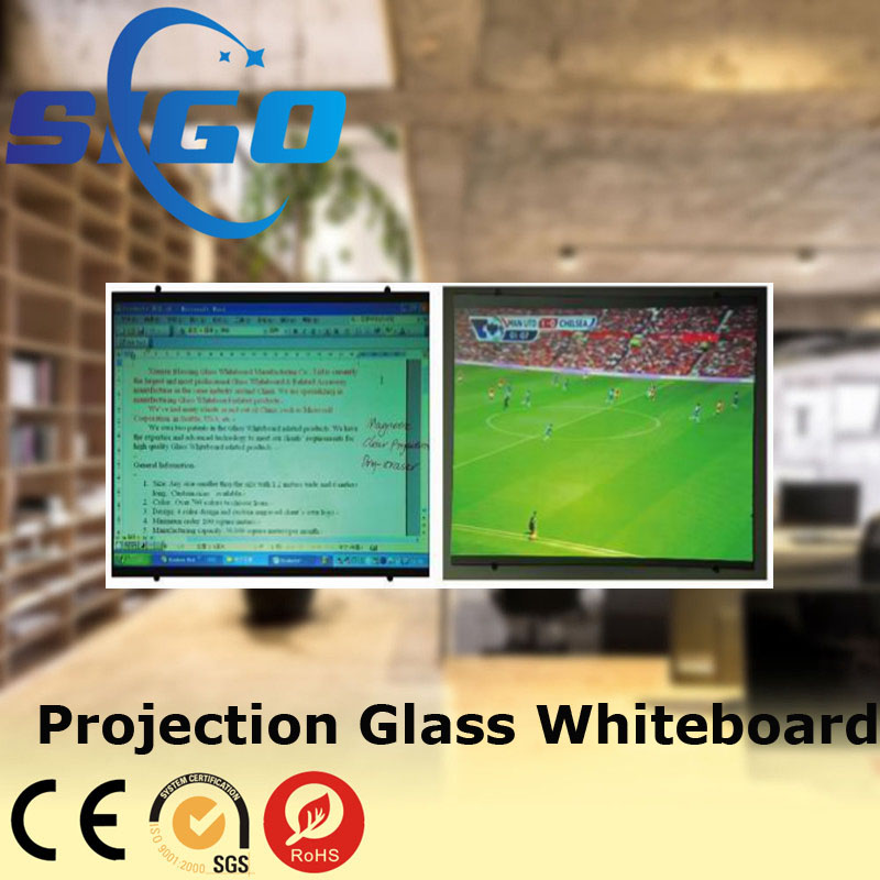 Office stationary interactive projection glass whiteboard