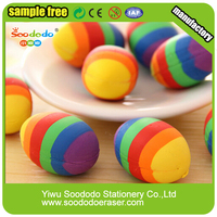 Hotsale School Stationery Rubber Cute Colorful Rainbow Eraser