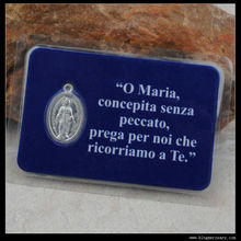 Catholic Prayer card with Miraculous Medal