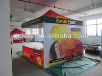 10x10 full colour digital printing canopy gazebo, outdoor advertising pop up pvc window