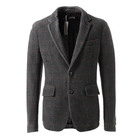 Casual Burgundy Modern Linen Slim Fit Custom Stripe Formal Men Suits