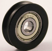 black pulley sliding gate wheel with bearing for door & window roller