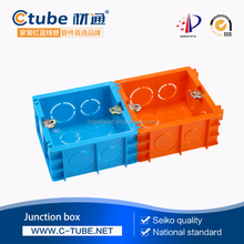 PVC Wall mount switch wiring box Plastic Electrical Outlet Boxes