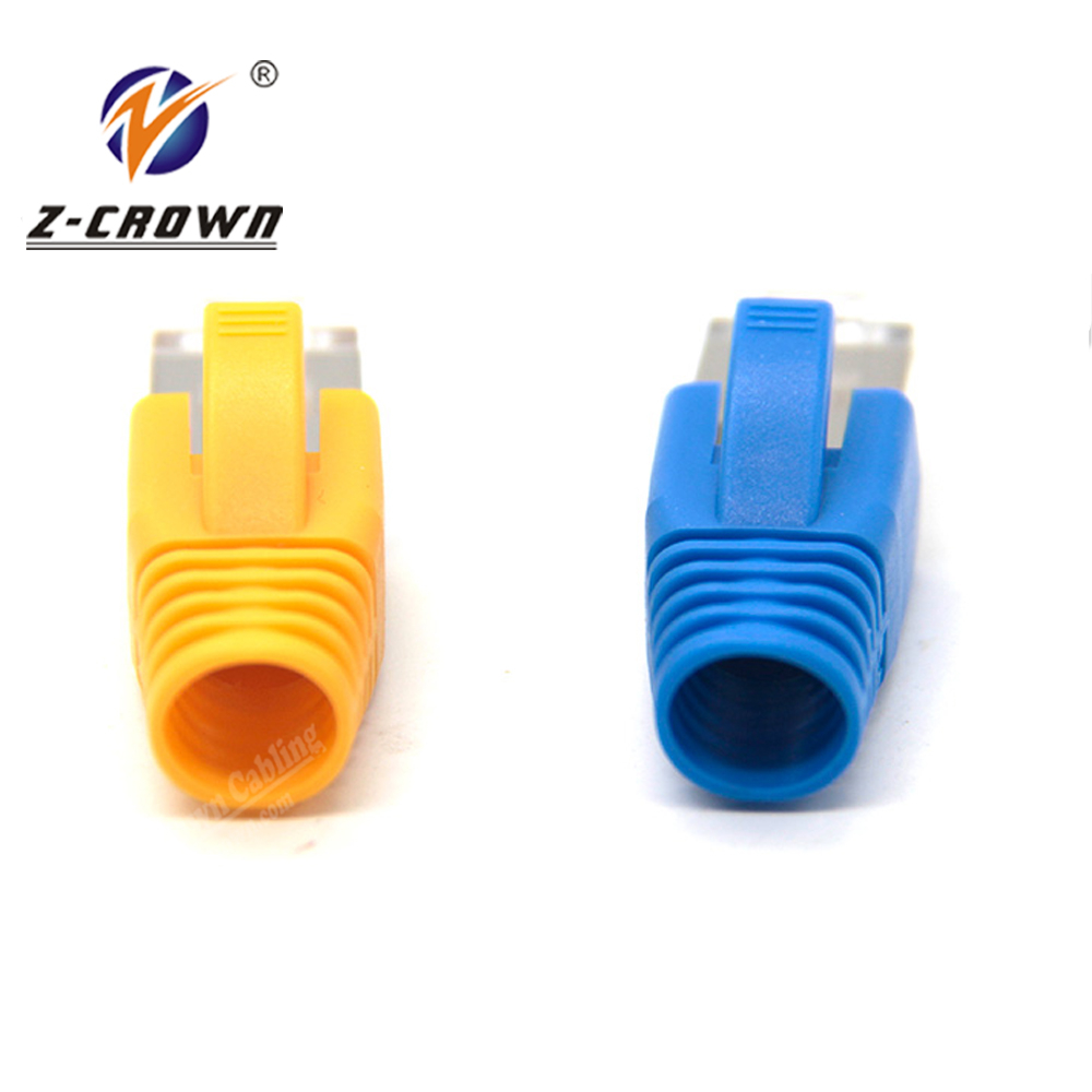 RJ45 connector boot cat5e cat6 cat6a cat7 rj45 plug cover rj45 modular plug grey bend protection