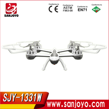 SKY HAWK 1331 2.4G 4CH 6 axis gyro drone of Wifi FPV Real-Time RC Helicopter 2MP HD Camera RC Quadcopter Toys SJY-1331W