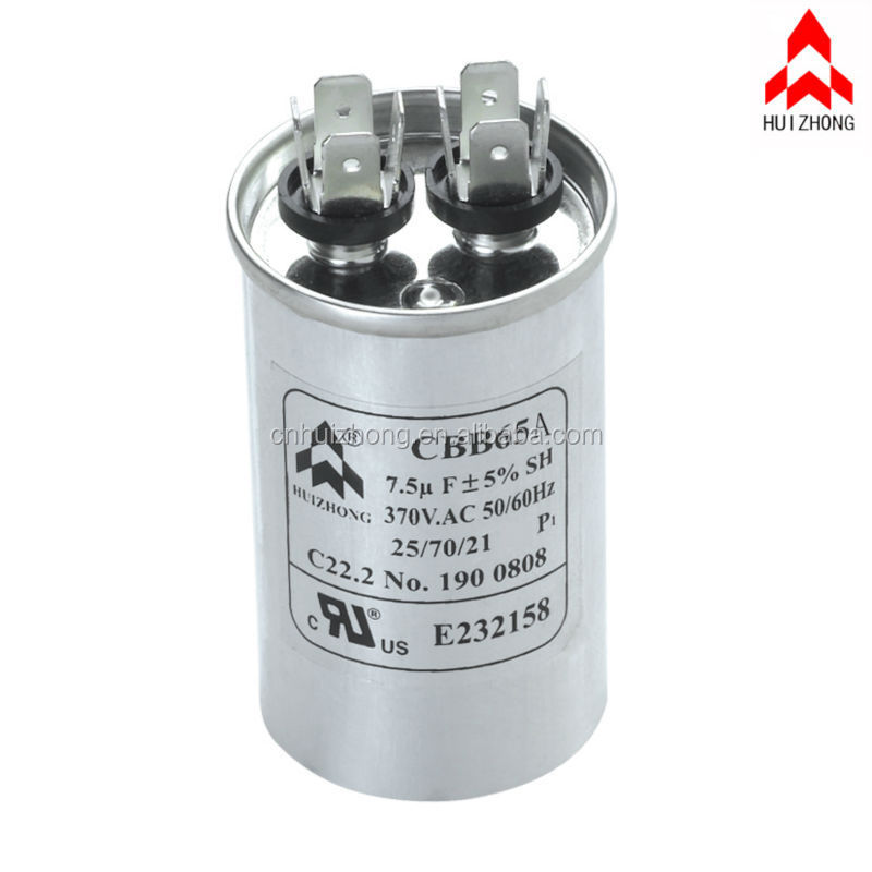 CBB65 25uF /± 5/% Motor Running Capacitor Start Capacitor for Air Conditioner 50//60Hz 450V AC